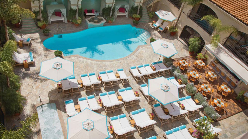 Pool and Lounge at Beverly Wilshire a Four Seasons Hotel Beverly Hills
