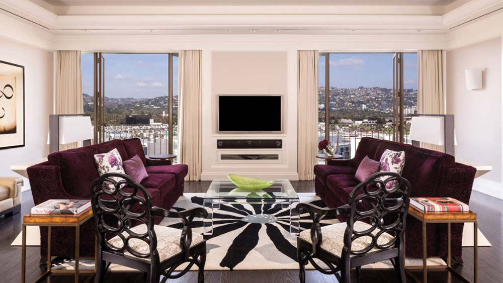 Suite Lounge at Beverly Wilshire a Four Seasons Hotel Beverly Hills