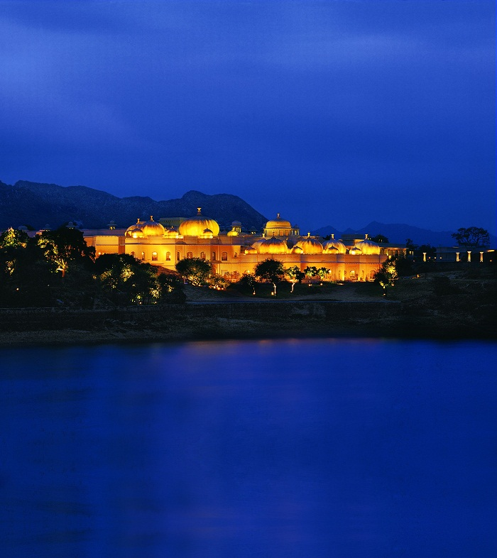 The Oberoi Udaivilas Exterior at Night
