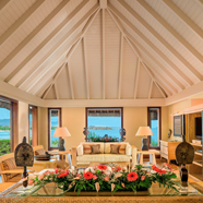 Royal Villa Living Area at The Oberoi Mauritius