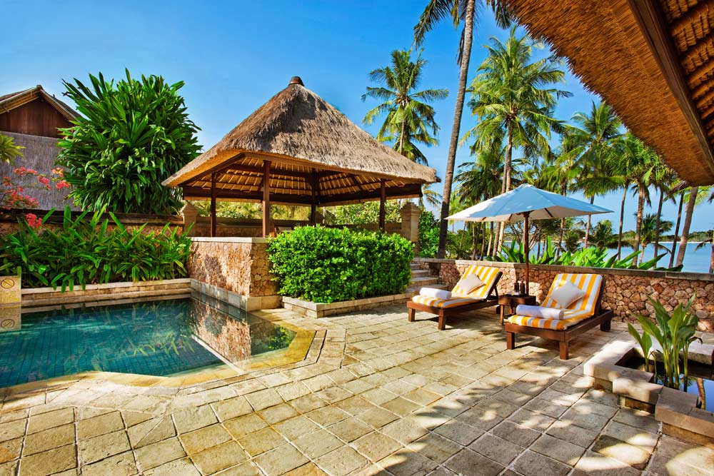 Lounge by Your Own Private Pool Villa at Oberoi LombokIndonesia