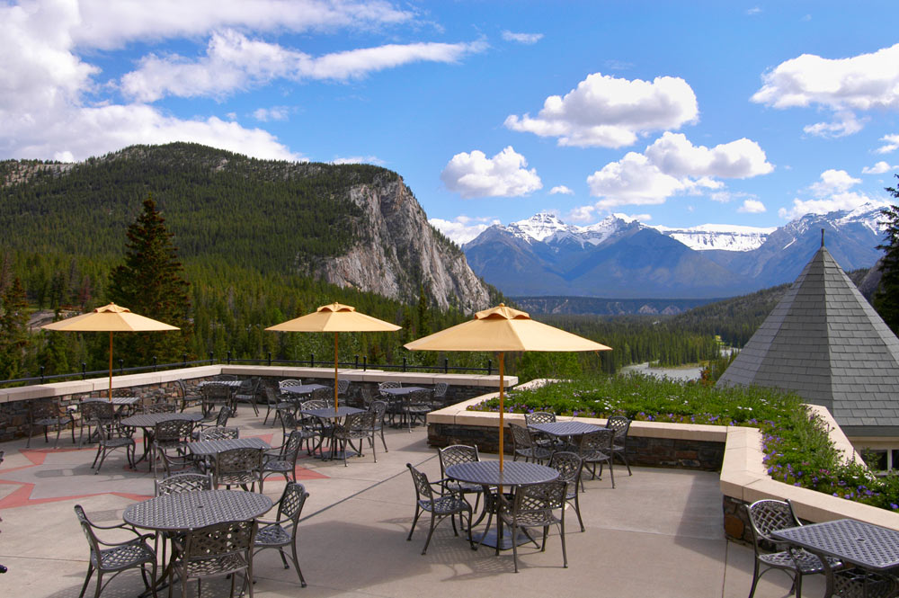 Terrace Dining at Fairmont Banff Springs, Banff, Canada