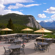 Terrace Dining at Fairmont Banff SpringsBanffCanada