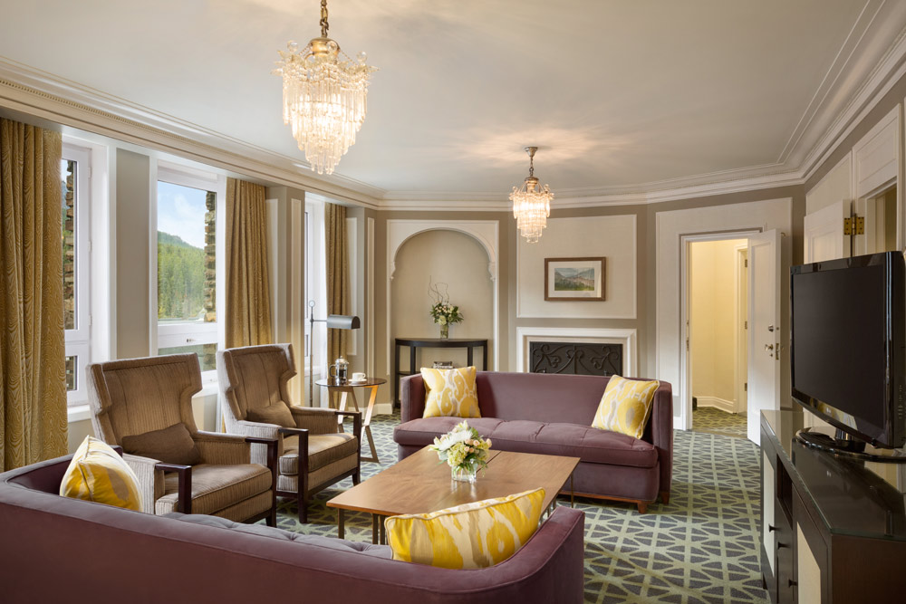 Suite Living Room at Fairmont Banff Springs, Banff, Canada