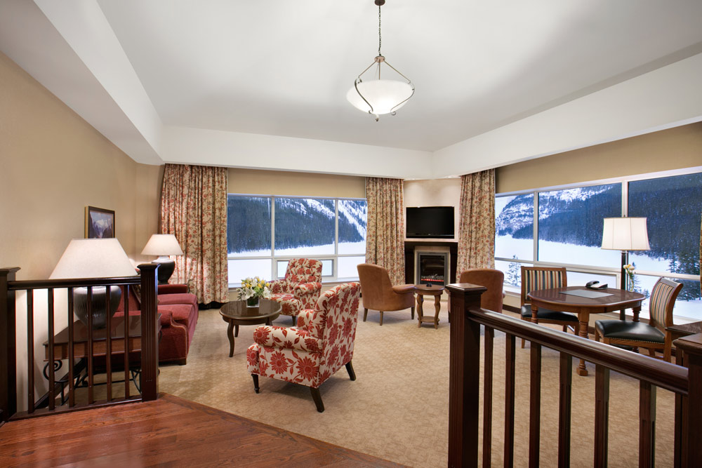 Suite Lounge at Fairmont Chateau Lake Louise, Canada