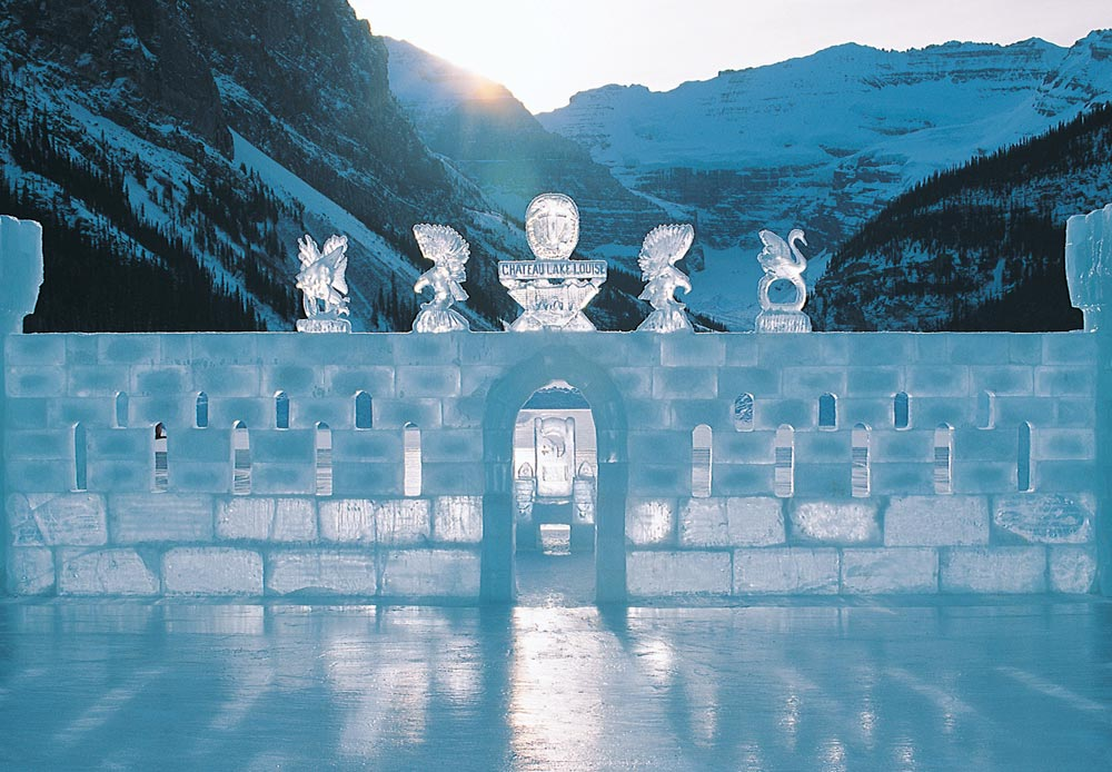 Ice Sculptures at Fairmont Chateau Lake Louise, Canada