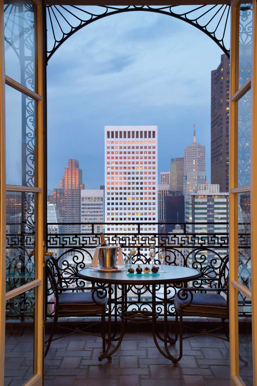 Main Building Balcony Suite at Fairmont San Francisco