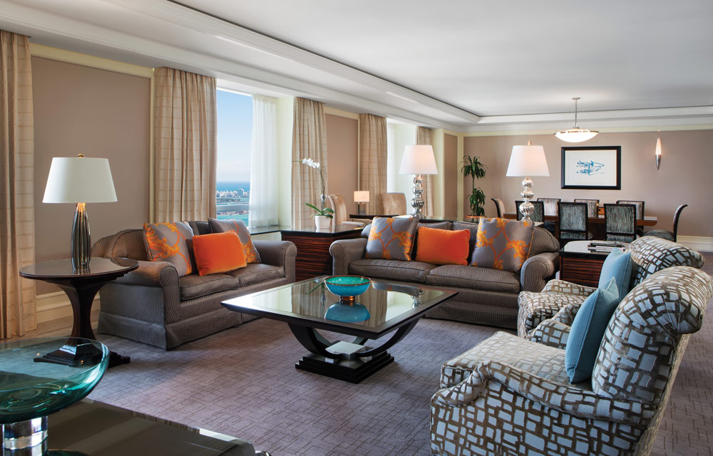 Suite Living Area at Four Seasons MiamiFL