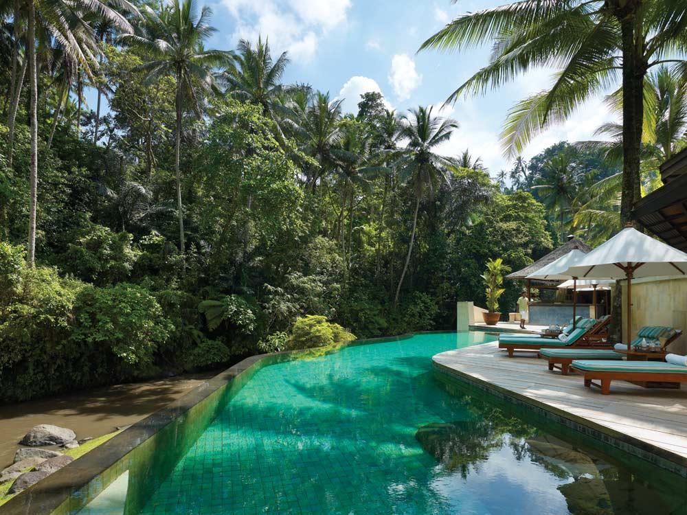 Pool of Four Seasons Sayan Bali, Indonesia