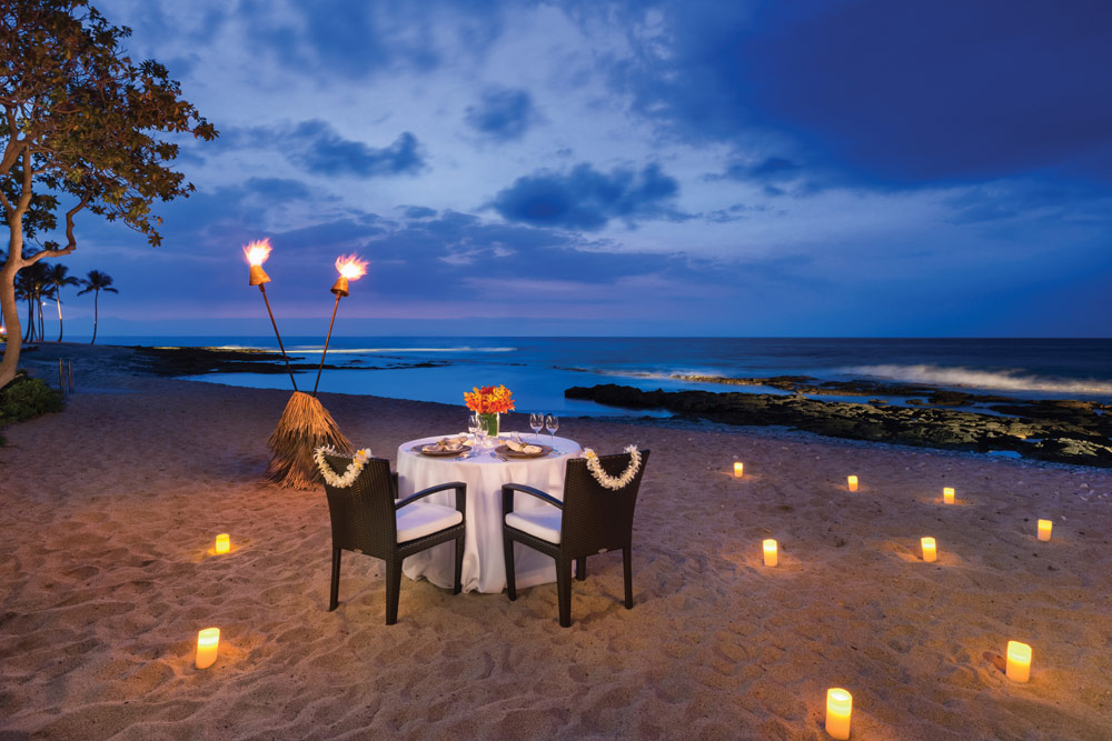 Private beach dining at Four Seasons Hualalai KonaHawaiiUnited States