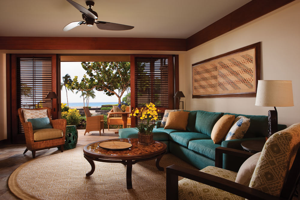 Suite Living Room at Four Seasons Hualalai KonaHawaiiUnited States