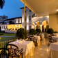 Terrace Dining at Country Club Lima Hotel, Peru