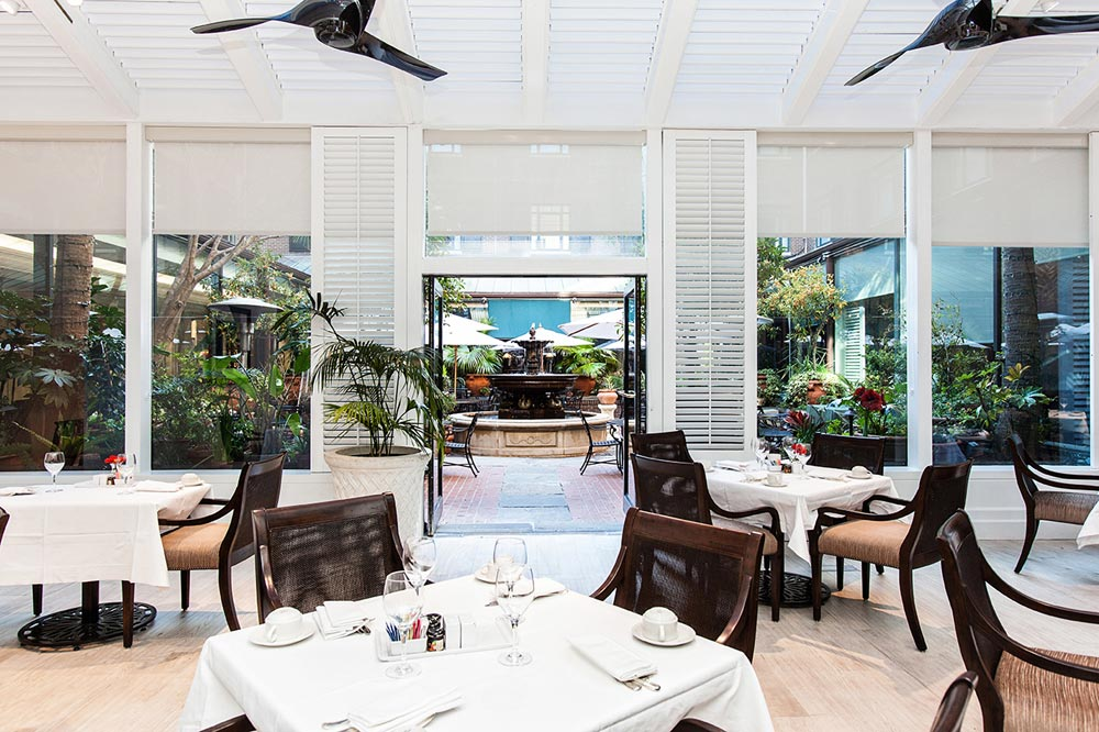 Visit The Palmetto Cafe at Belmond Charleston Place, Charleston SC