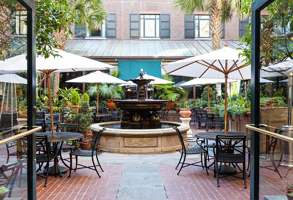 The Palmetto Cafe Courtyard at Belmond Charleston PlaceCharlestonSC