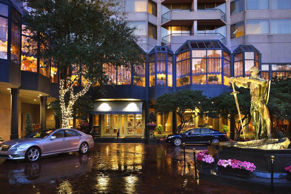 Windsor Court Hotel Entrance