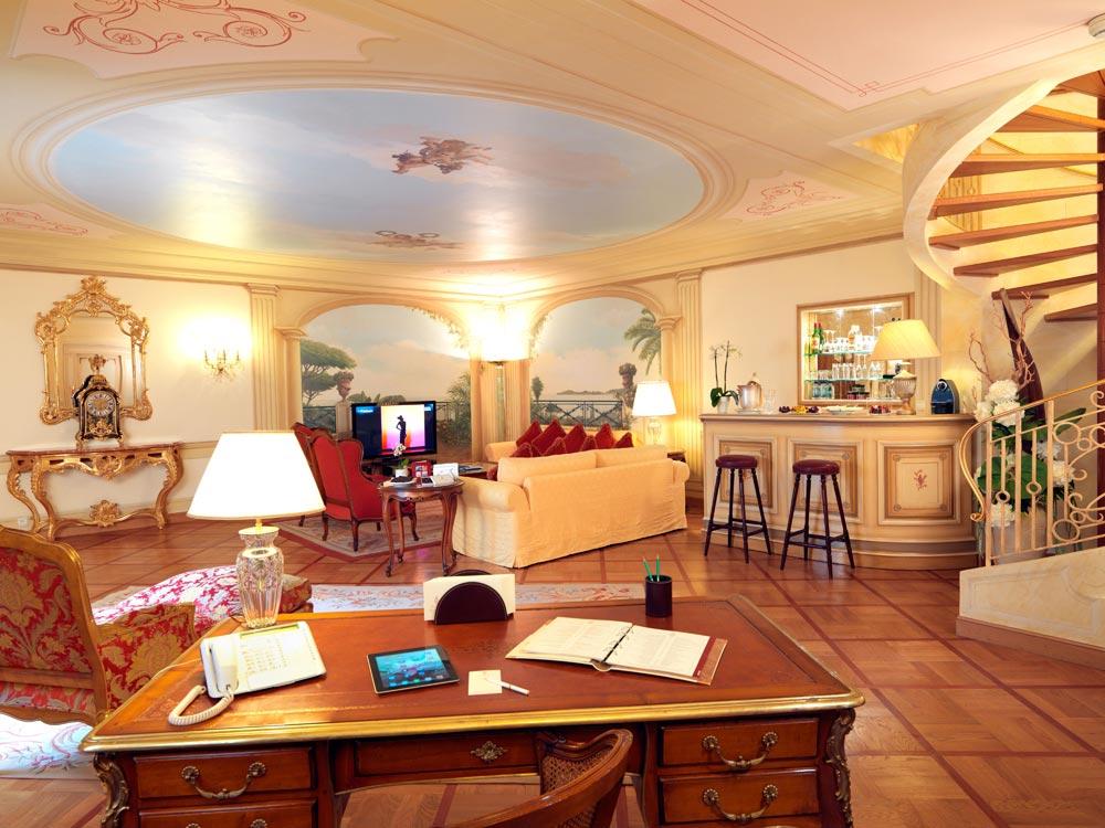 Lounge at La Reserve De Beaulieu, Beaulieu Sur Mer, France