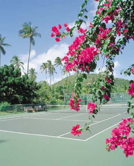 Nine Tennis Courts at Carlisle Bay