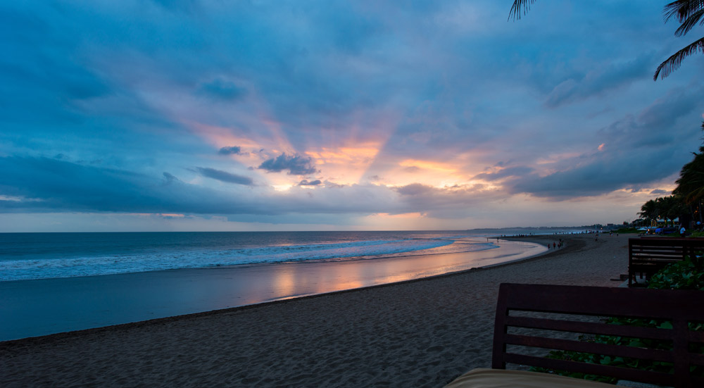 Sunset on Seminyak Beach at Legion Bali