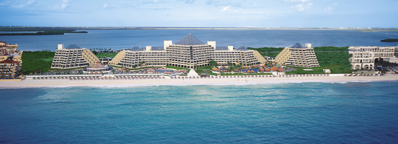 Paradisus Cancun Hotel from an aerial view