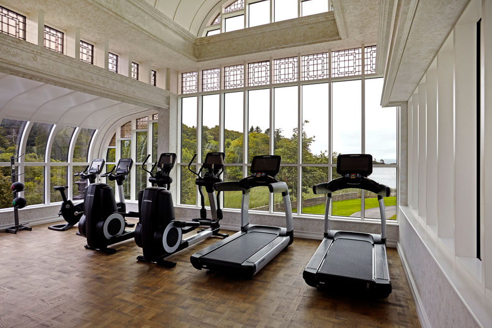 Fitness Center at Ashford Castle, County Mayo, Ireland
