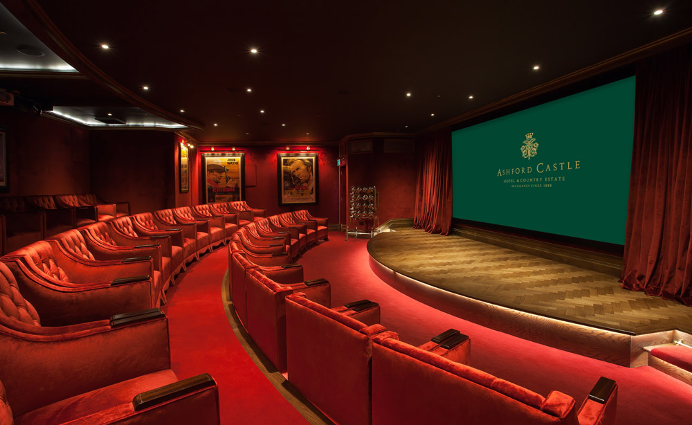 Cinema at Ashford Castle, County Mayo, Ireland