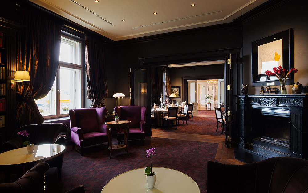 Suite Sitting Area at Le Palais Art Hotel Prague