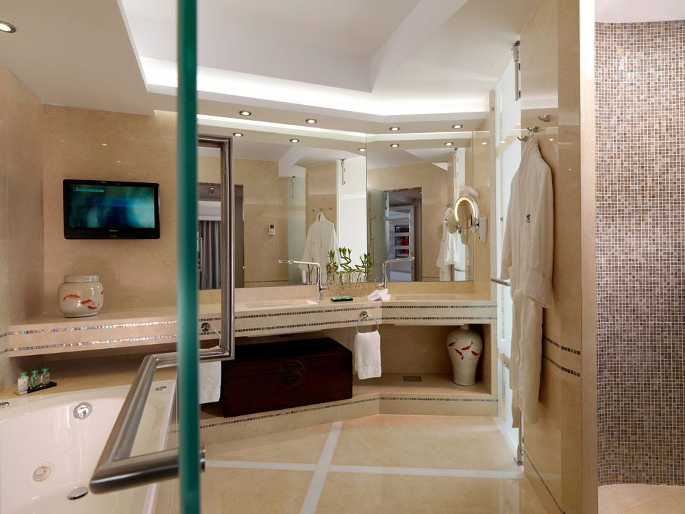Presidential Suite Bath at Divani Apollon Palace And SpaGreece