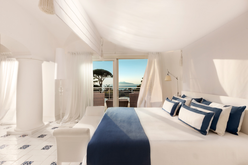 Capritouch Bedroom View at Capri Palace Hotel and SpaItaly