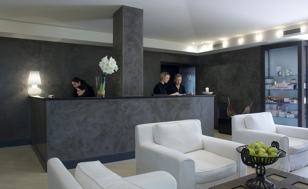 Spa Reception at Capri Palace Resort and Spa, Italy