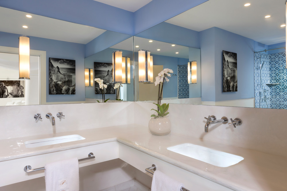 Capritouch Deluxe Guest Bathroom at Capri Palace Hotel, Italy