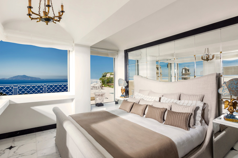 Penthouse Acropolis Suite Bedroom At The Capri Palace Hotel