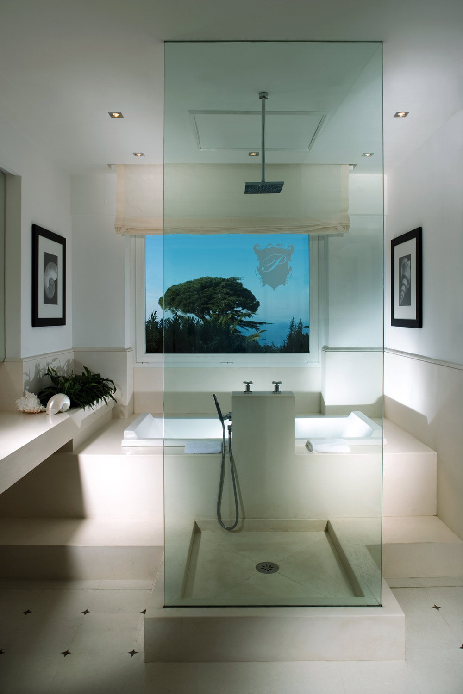 Mondrian Art Suite Guest Bath at Capri Palace Resort and Spa, Italy