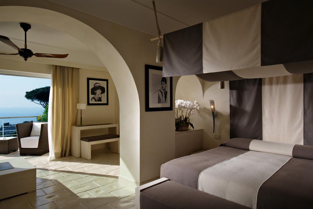 Hepburn Deluxe Junior Suite at Capri Palace Resort and Spa, Italy