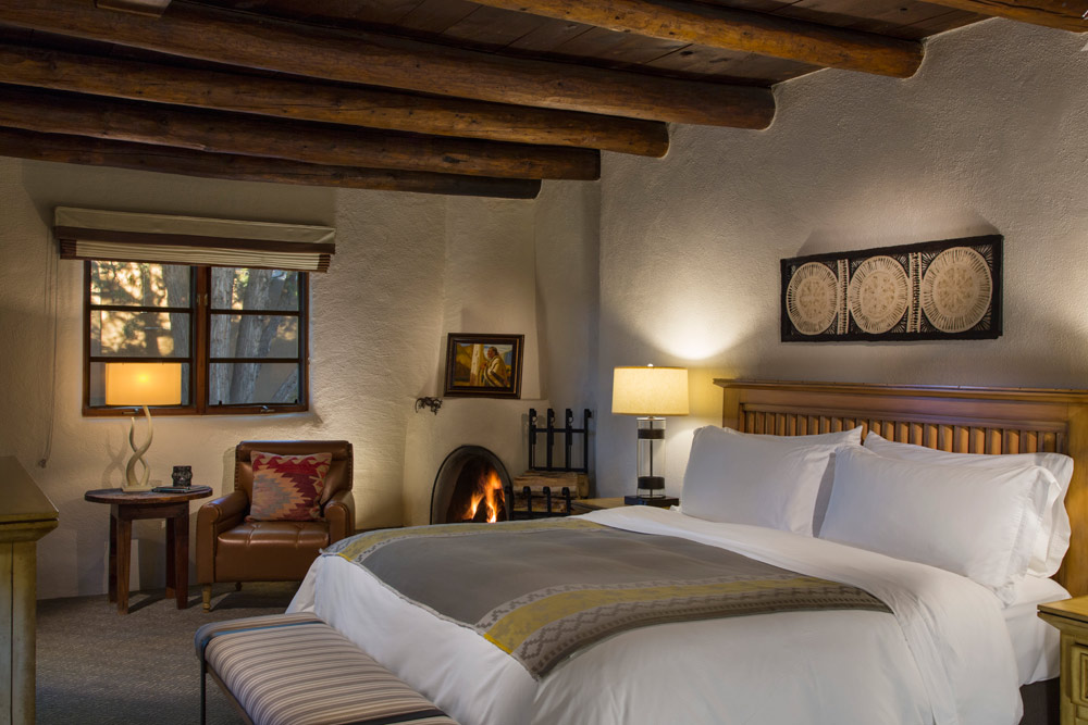 Guest Room with Fireplace at La Posada De Santa Fe Resort and SpaSanta FeNM