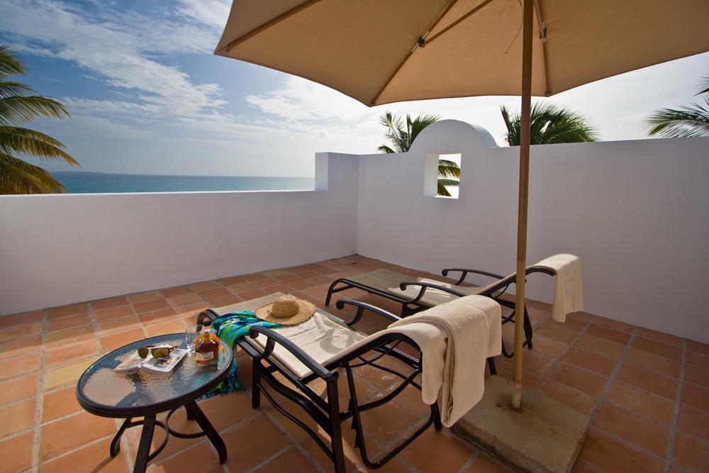 Cap Juluca rooftop terrace, Maundays Bay, Anguilla