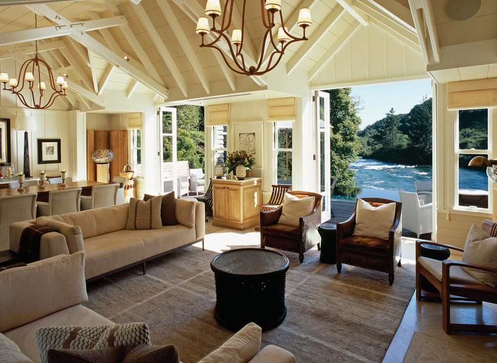 Cottage Family Room at The Huka LodgeNew Zealand