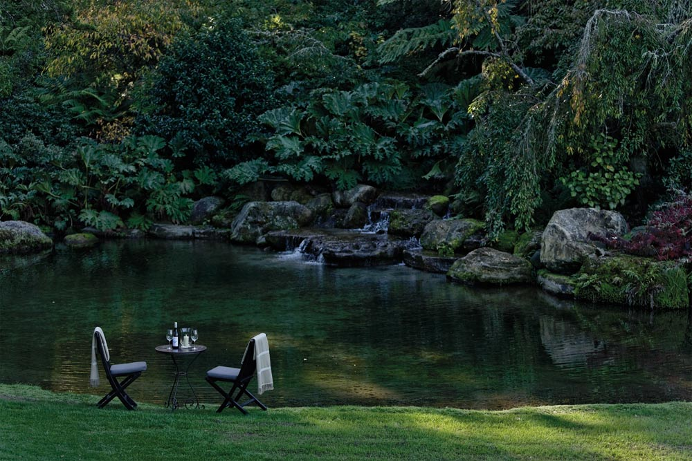 Private Dining Next to Water Garden atThe Huka LodgeNew Zealand