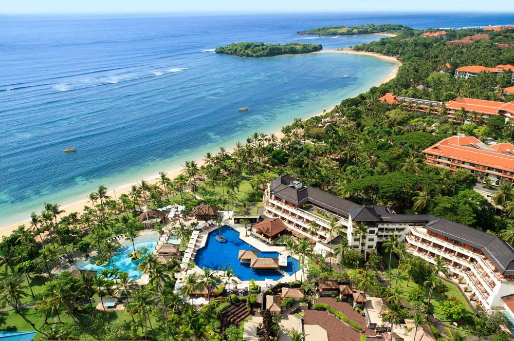 Aerial View of Nusa Dua Beach Hotel And Spa Denpasar, Indonesia