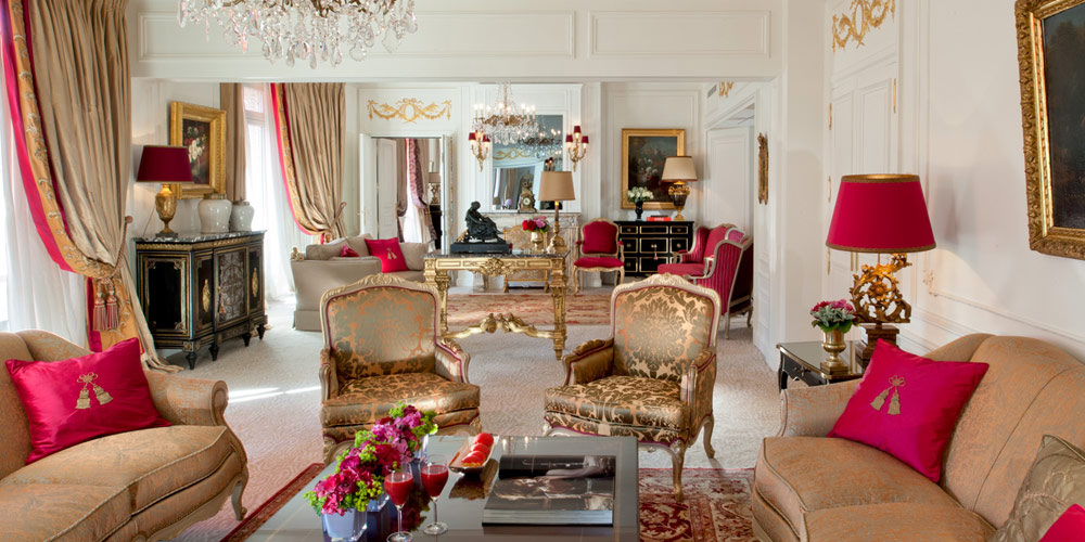 Royal Suite Living Room at the Hotel Plaza Athenee Paris