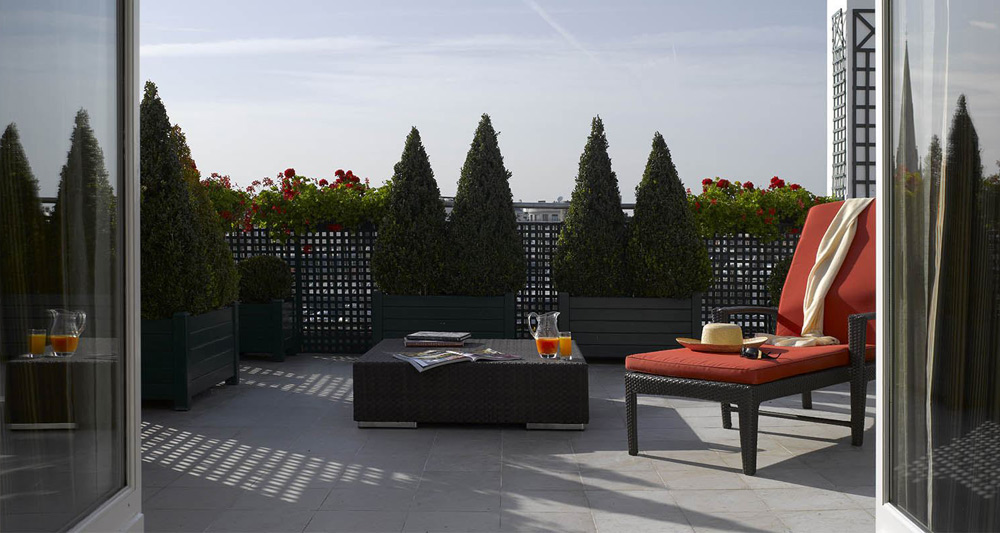 Suite Balcony at the Hotel Plaza Athenee Paris