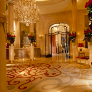 Lobby at the Hotel Plaza Athenee Paris