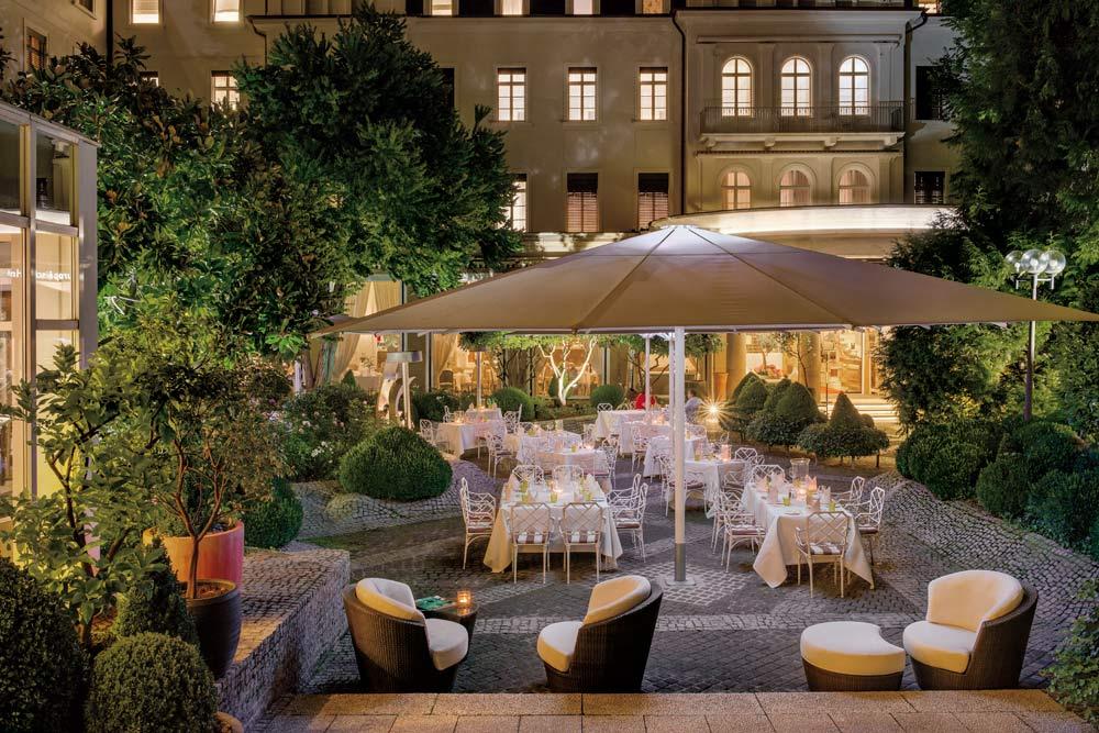 Europaeischer Hof Hotel Europa terrace and lounge, Germany