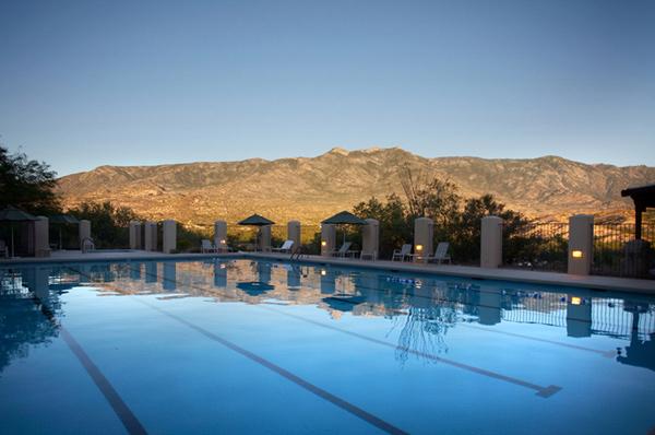 Miraval Arizona Resort and Spa Pool at Dusk