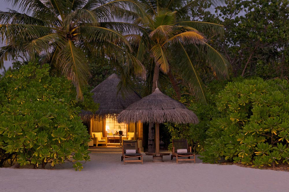 Beach Villa Exterior at Kanuhura Male, Maldives