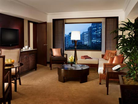 Premier Suite Living Room at Makati Tower