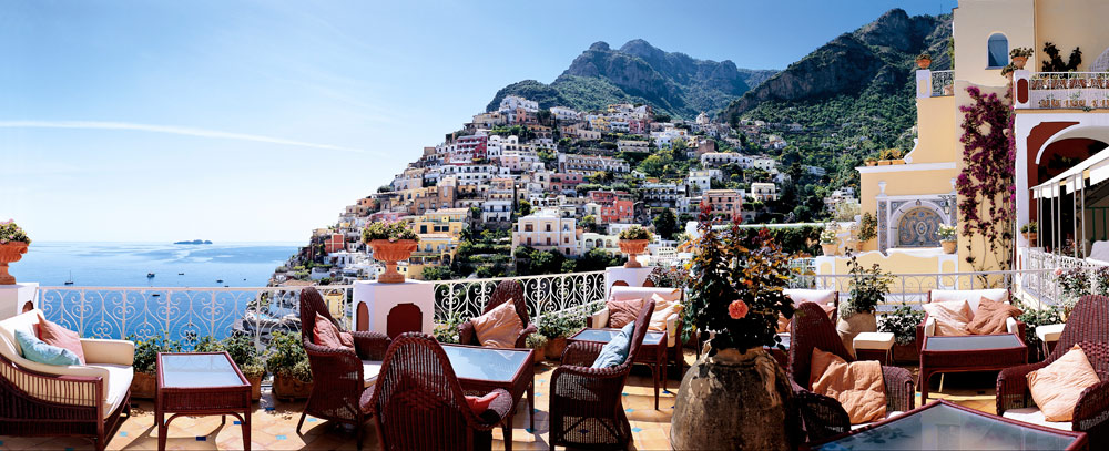 Views While Dining at Le SirenusePositanoItaly