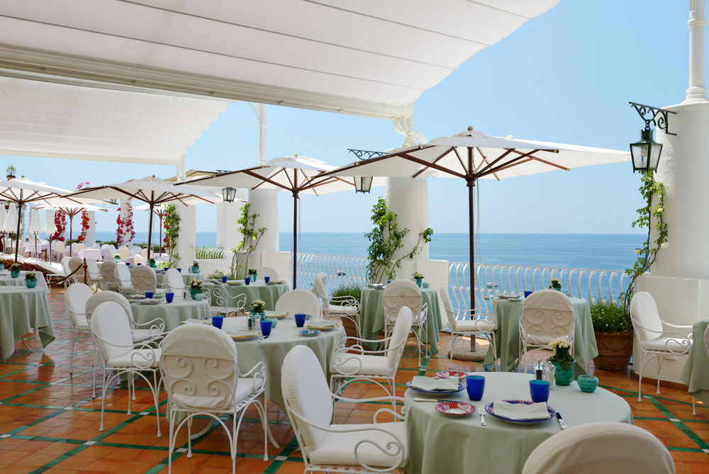 Terrace Dining at Le SirenusePositanoItaly