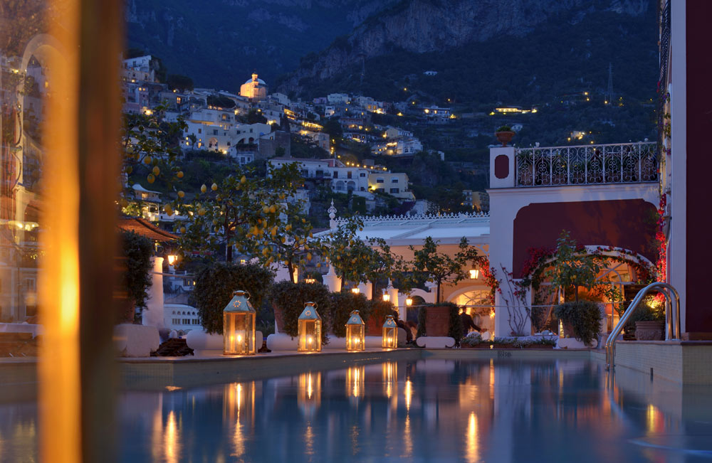 Night View Pool at Le SirenusePositanoItaly