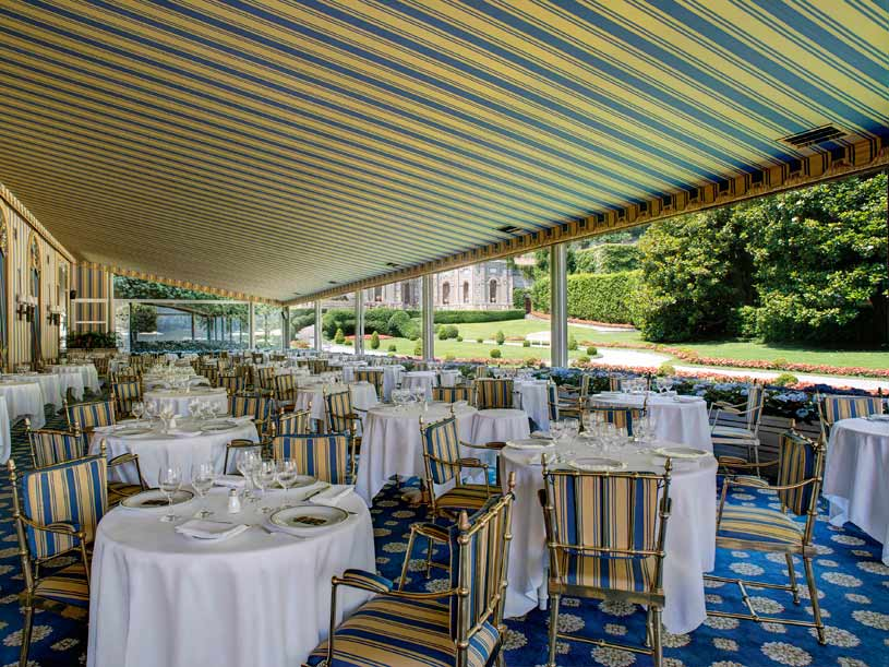 La Veranda Restaurant On The Mosaic at The Villa d'Este Lake Como