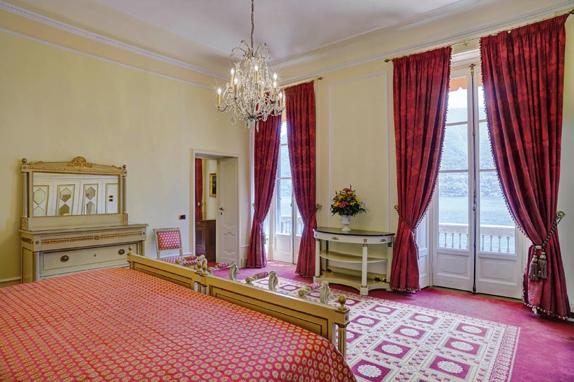 Presidential Suite Bedroom at The Villa dEste Lake Como
